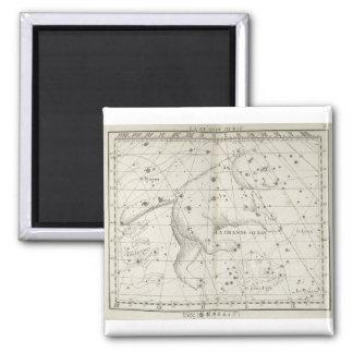 Constelación de la estrella del oso del vintage imán cuadrado