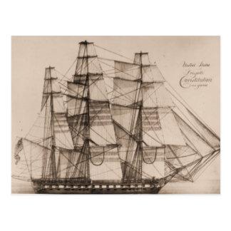 Constelación de la nave de los E.E.U.U. sailplan Postal