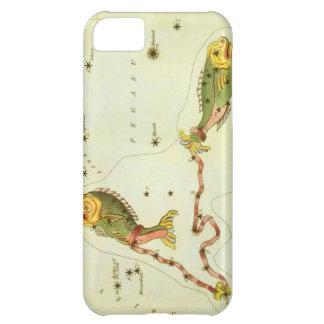 Constelación de los pescados de Piscis de la Funda Para iPhone 5C