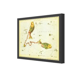 Constelación de los pescados de Piscis de la Impresión En Lona