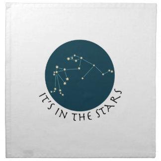 Constelación del acuario servilleta
