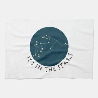Constelación del acuario toalla de cocina