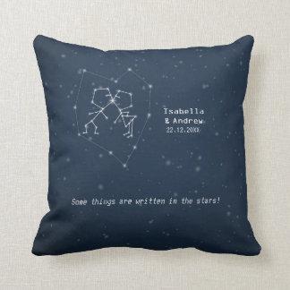 Constelación del amor - almohada del aniversario d
