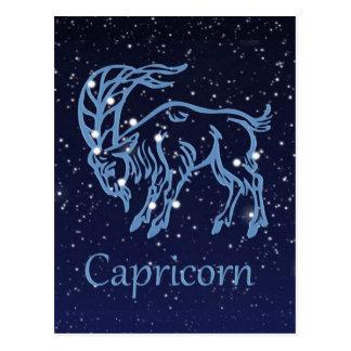 Constelación del Capricornio y muestra del zodiaco Tarjetas Postales