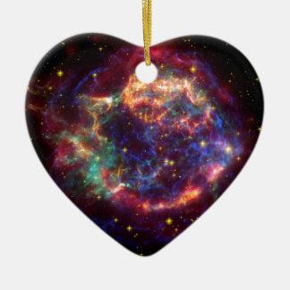 Constelación del Cassiopeia Adorno Navideño De Cerámica En Forma De Corazón
