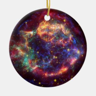 Constelación del Cassiopeia Adorno Navideño Redondo De Cerámica