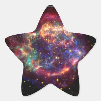 Constelación del Cassiopeia Calcomanía Forma De Estrellae