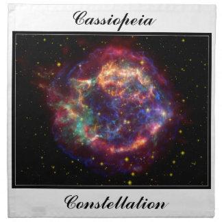 Constelación del Cassiopeia Servilletas Imprimidas