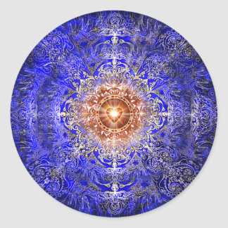 Constelación del corazón pegatina redonda