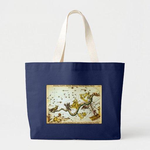 Constelación del dragón de la serpiente - vintage bolsas