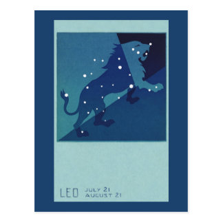 Constelación del león de Leo de la astrología del Postal