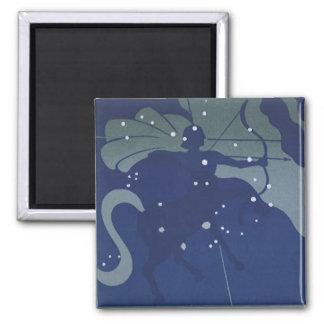 Constelación del sagitario de la astrología del imán para frigorífico