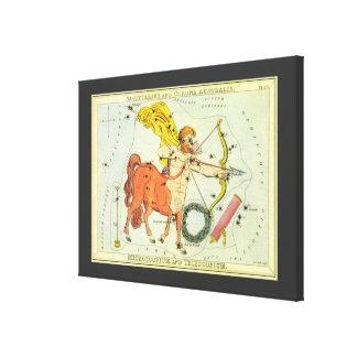 Constelación del sagitario de la astrología del impresiones en lienzo estiradas