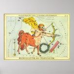 Constelación del sagitario de la astrología del impresiones
