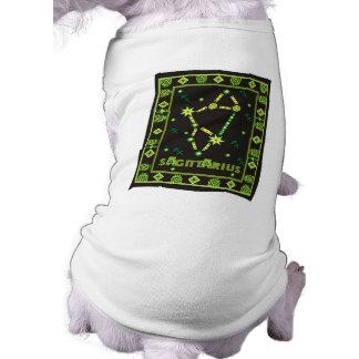 Constelación del sagitario playera sin mangas para perro