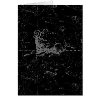 Constelación Hevelius 1690 de la muestra del aries Tarjeta De Felicitación