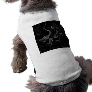 Constelación Hevelius 1690 de los géminis en negro Playera Sin Mangas Para Perro