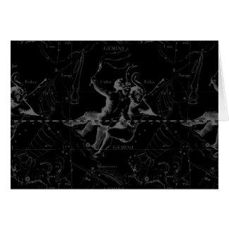 Constelación Hevelius 1690 del zodiaco de los Tarjeta De Felicitación