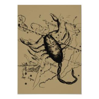 """Constelación Hevelius del escorpión 1690 Oct23 - Invitación 5"""" X 7"""""""