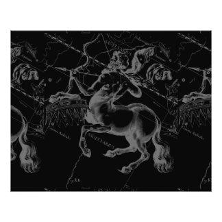 Constelación Hevelius del sagitario circa 1690 Fotografías