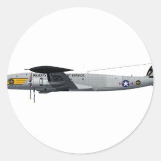 Constelación MATS4048 de Lockheed C-121G Pegatina Redonda