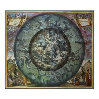 Constelación septentrional celestial de la póster
