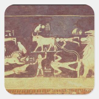 Constelaciones, de la cámara funeraria pegatina cuadrada