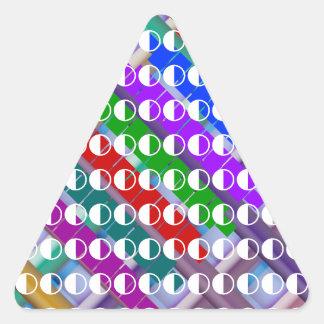 Constelaciones de la luna del alcohol ilegal pegatina triangular