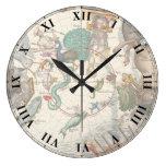 Constelaciones del vintage reloj de pared