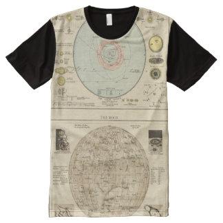 Constelaciones, Sistema Solar, luna Playeras Con Estampado Integral