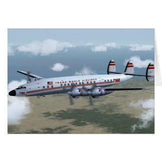Constellation Airliner Card
