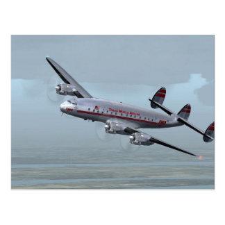 CONSTELLATION AIRPLANE -- AVIATION HISTORY! POSTCARD
