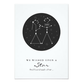 Constellation Bride and Groom Save the Date 5x7 Paper Invitation Card