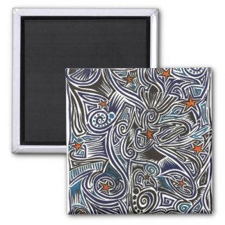 Constellation Craze 2 Inch Square Magnet