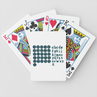 Constellation Font Bicycle Playing Cards
