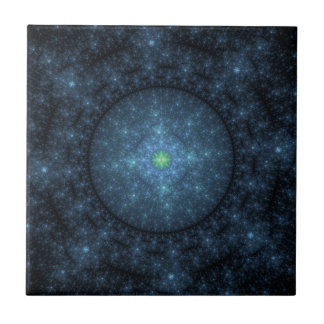 Constellation fractal art small square tile