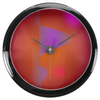 Constellation Grape Brown Aquavista Clock