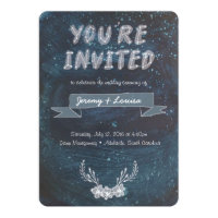 Constellation Hand Painted Wedding Invitation