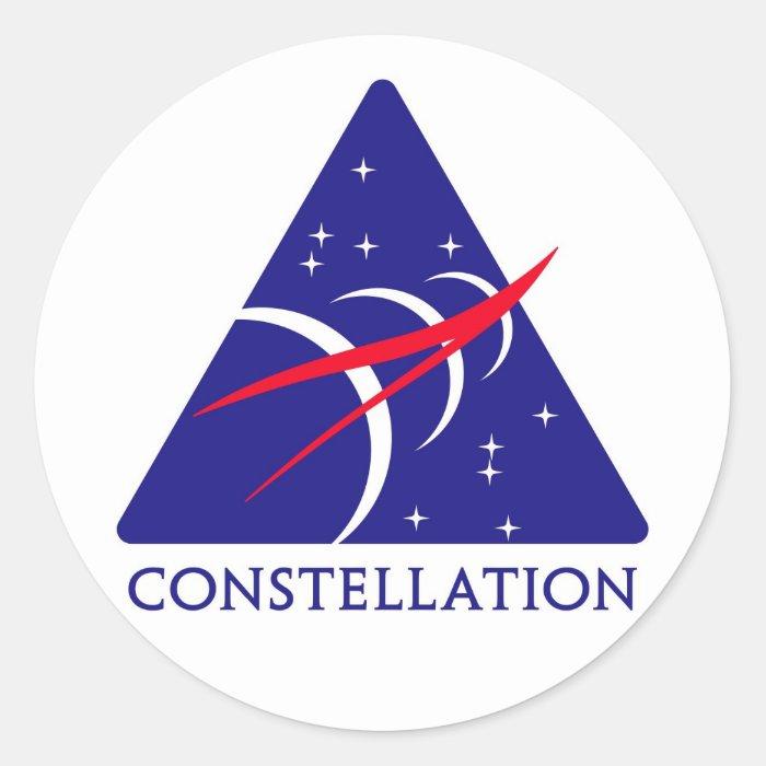 Constellation Logo Classic Round Sticker