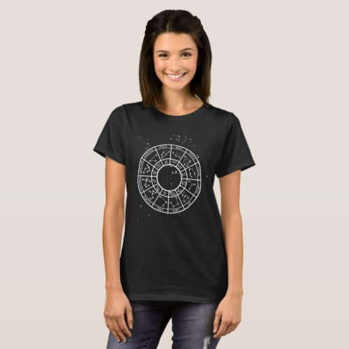 Constellation map space astronomy star chart shirt