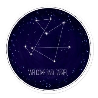 Constellation Monogram Round Announcement Personalized Announcement