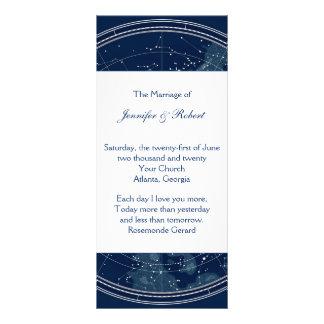 Constellation Night Sky Wedding Program