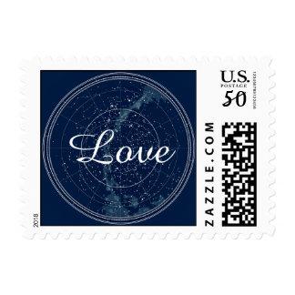 Constellation Night Sky Wedding Stamp