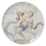 Constellation of Aquarius, plate 9 from 'Atlas Coe