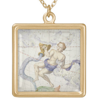 Constellation of Aquarius, plate 9 from 'Atlas Coe Gold Plated Necklace