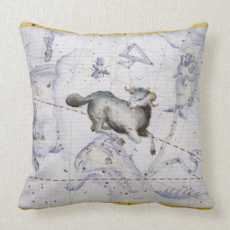 Constellation of Aries, plate 4 from 'Atlas Coeles Throw Pillow
