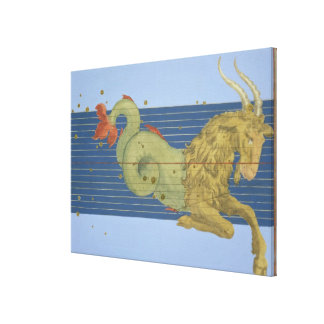 Constellation of Capricorn, from 'Uranometria' by Canvas Print