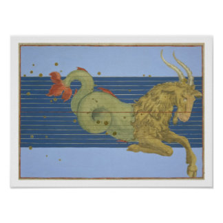 Constellation of Capricorn, from 'Uranometria' by Poster