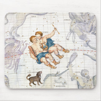 Constellation of Gemini with Canis Minor, plate 13 Mouse Pad