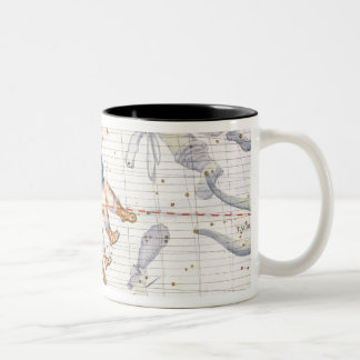 Constellation of Gemini with Canis Minor, plate 13 Two-Tone Coffee Mug